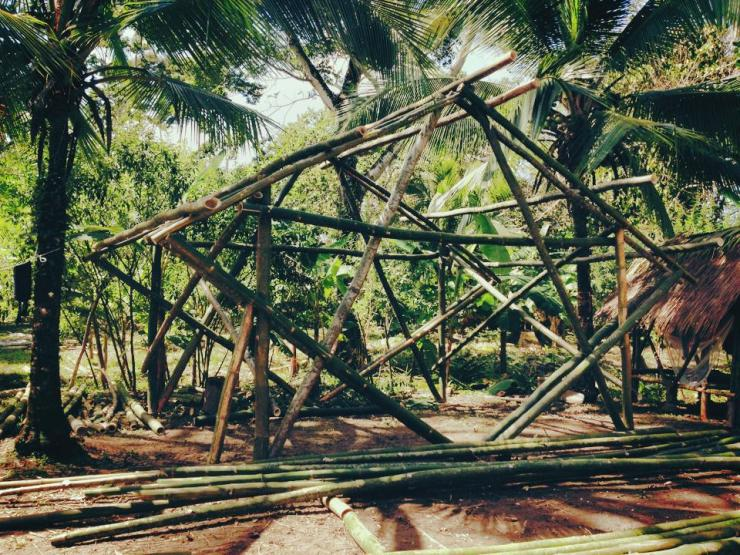 Our 3rd and 4th all Bamboo structure.  Can you see them.  Great everyone.