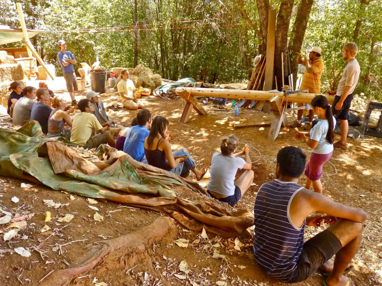 Round Wood Timber Framing Class