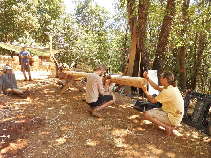 Water Level Round wood timber framing