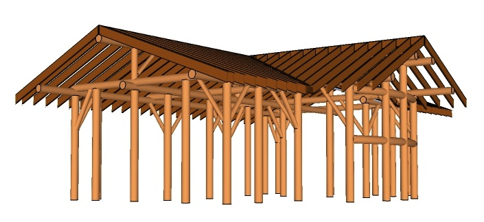 Framing for 2015 Natural Building Project